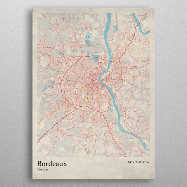 Bordeaux - France metal poster