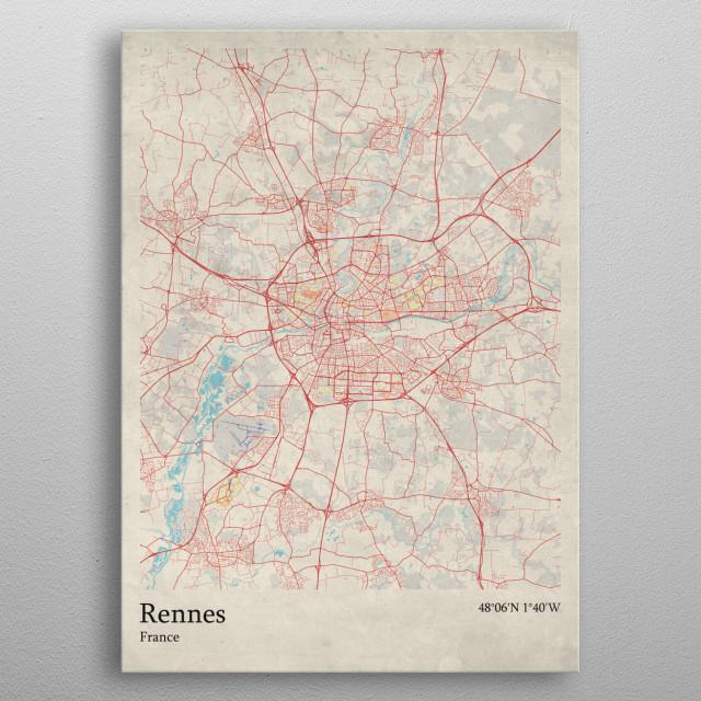 Rennes France By Rockstone Metal Posters Displate