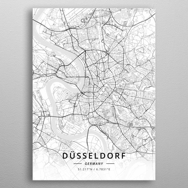 Dusseldorf, Germany metal poster