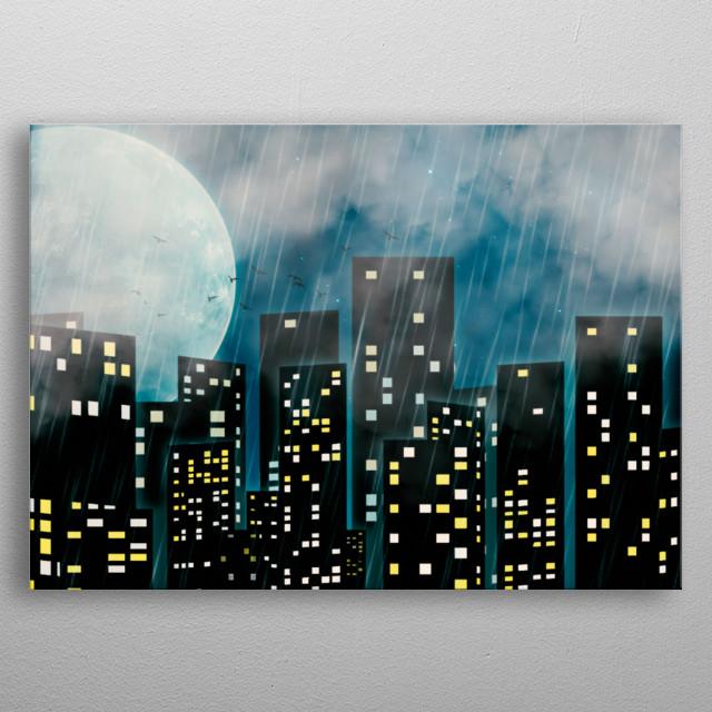 City Brush metal poster