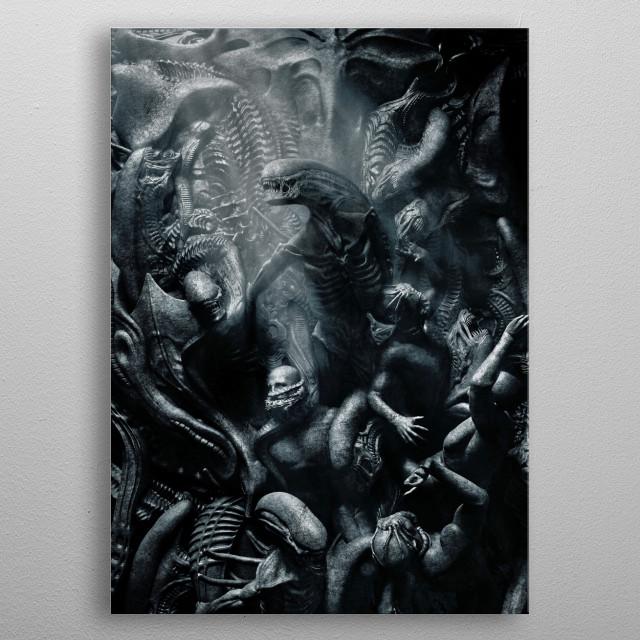 Alien Mural  metal poster