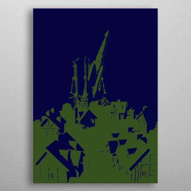 Rocket Town metal poster
