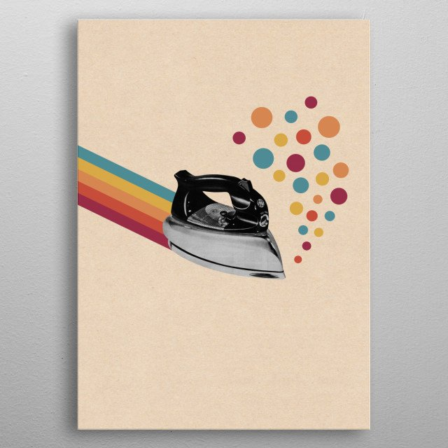 High-quality metal print from amazing Vintage Collage collection will bring unique style to your space and will show off your personality. metal poster