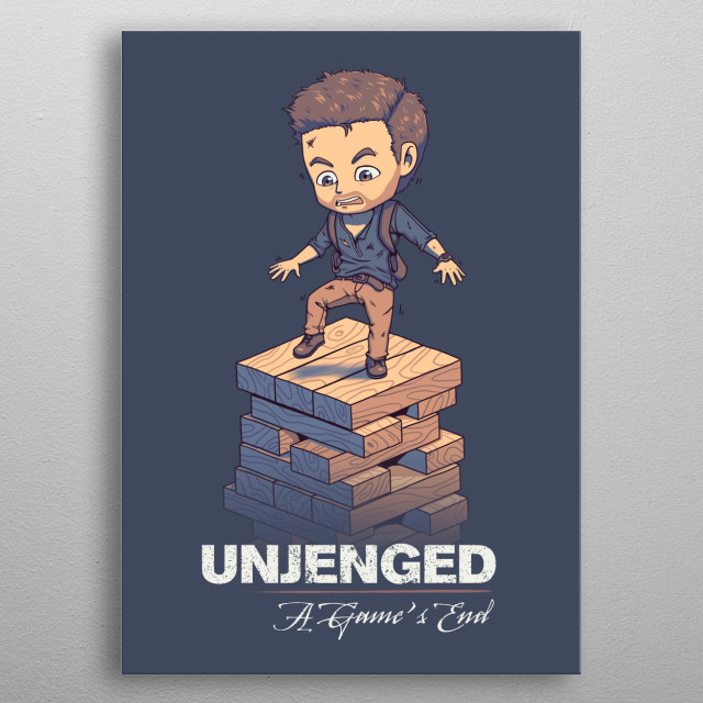 Unjenged: A Game's End metal poster