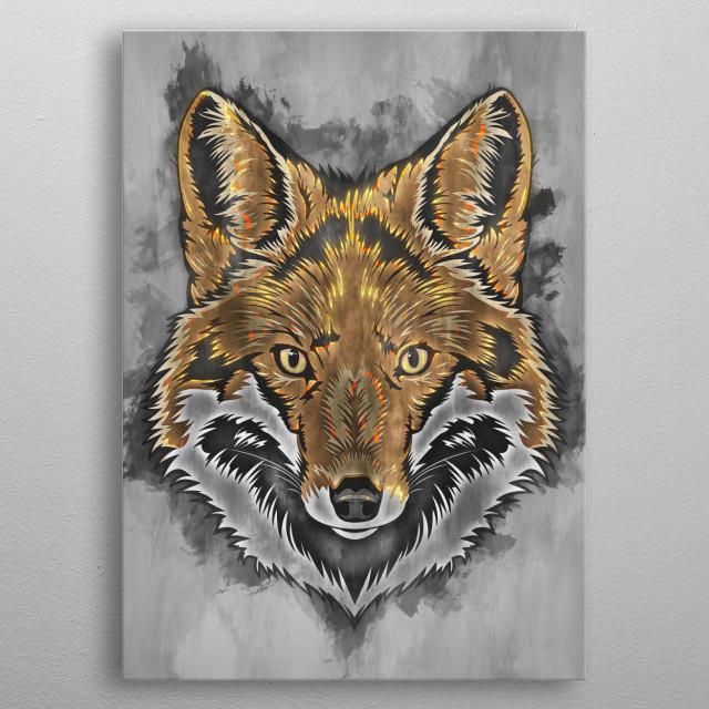 Fox metal poster