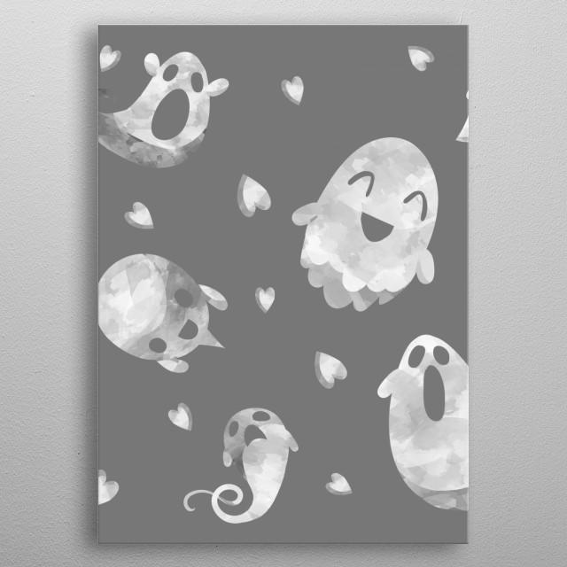 Ghosties metal poster