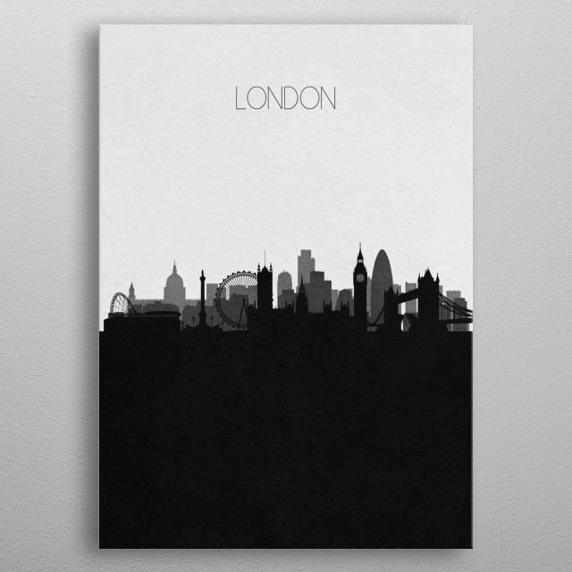 Destination: London metal poster