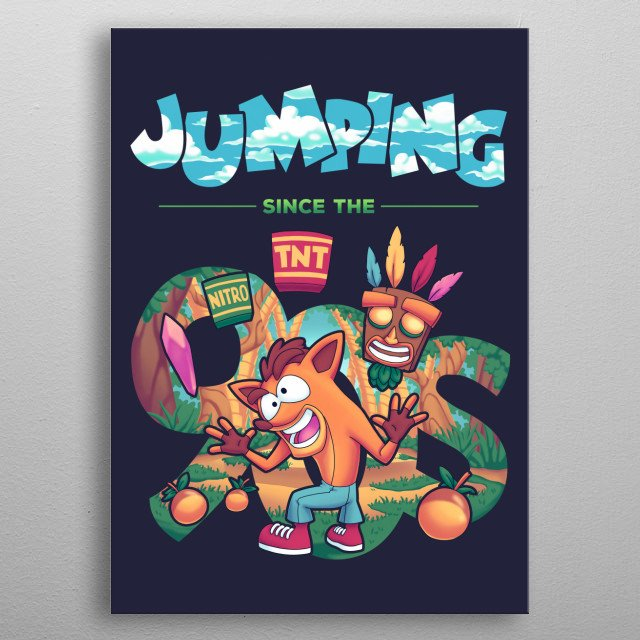 Jumping Since the 90s metal poster