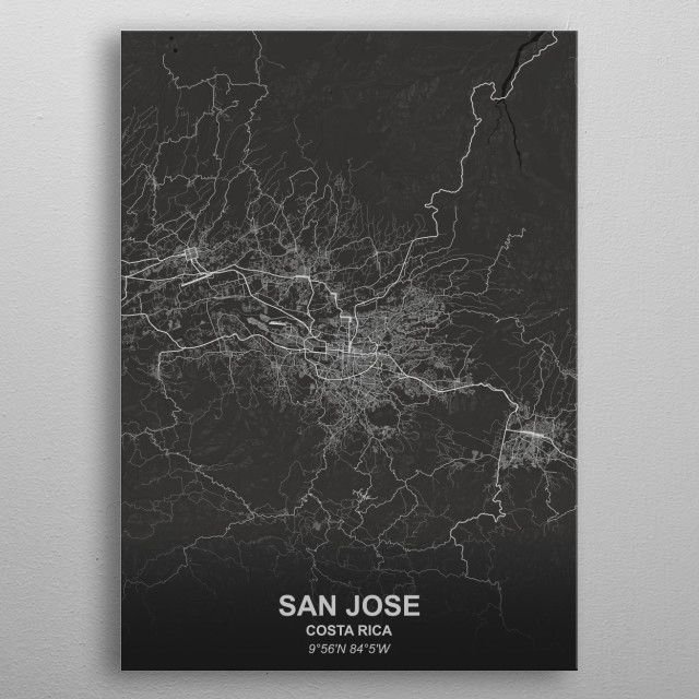 SAN JOSE - COSTA RICA metal poster