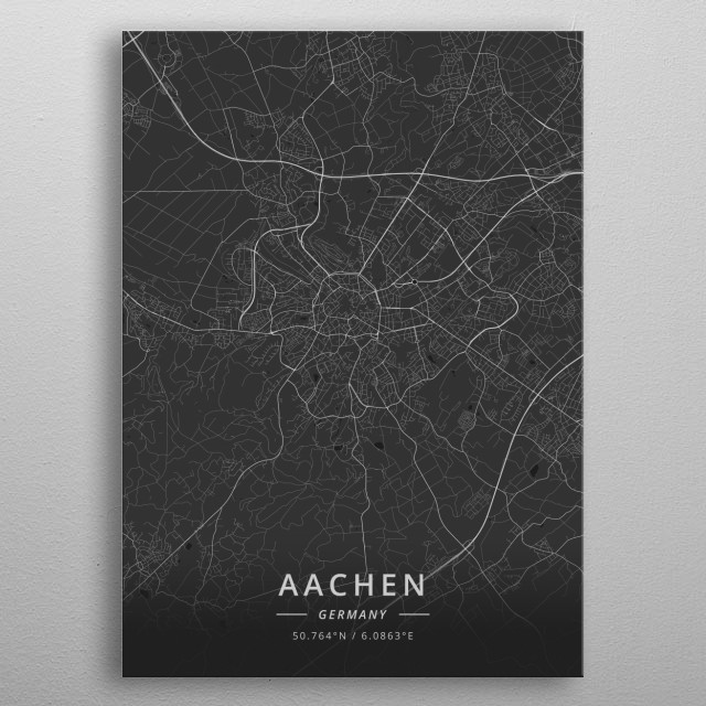 Aachen, Germany metal poster