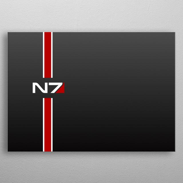 N7 Masseffect metal poster