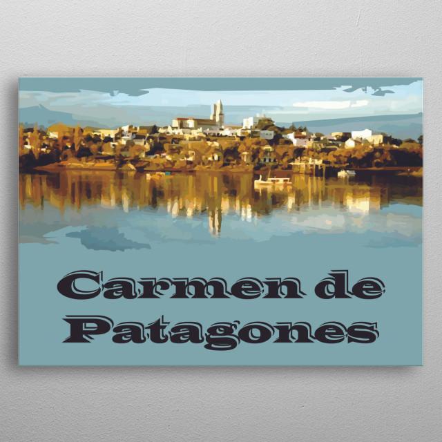 Carmen de Patagones metal poster