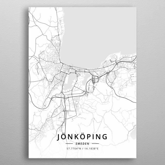 Jonkoping, Sweden metal poster