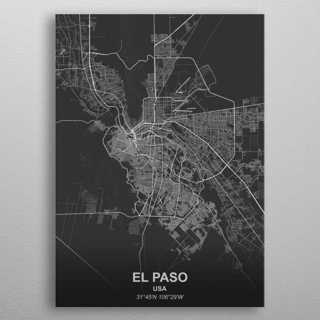 EL PASO - USA metal poster