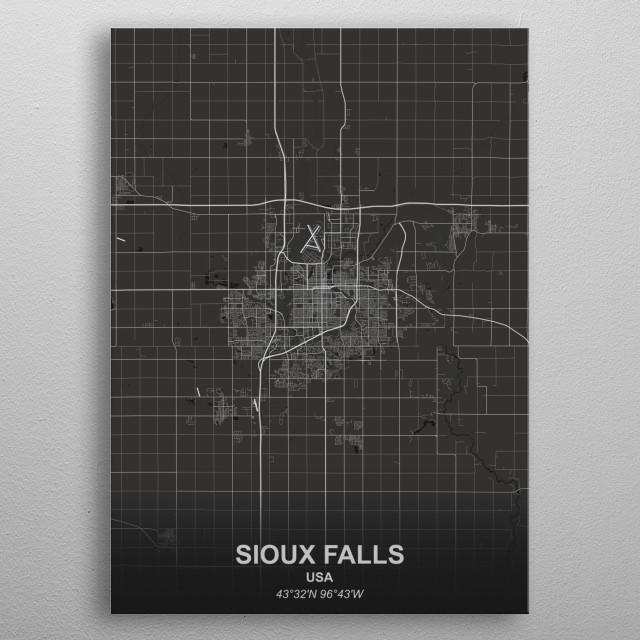 SIOUX FALLS  USA metal poster