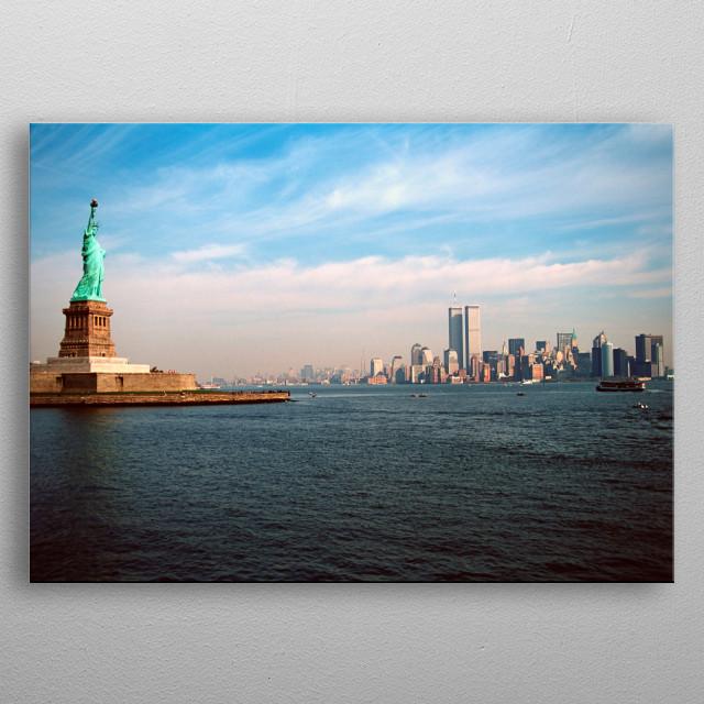 New York metal poster