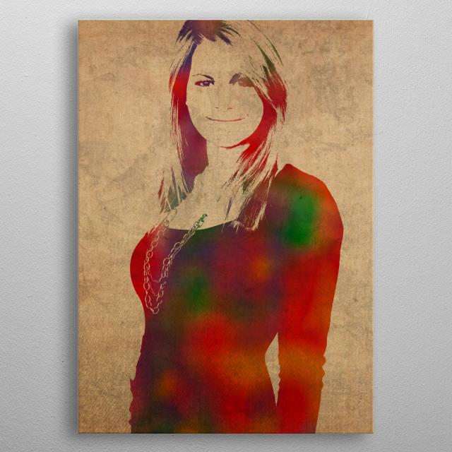 Candice Cameron Portrait metal poster