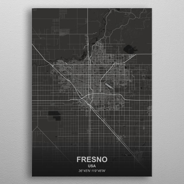 FRESNO - USA metal poster