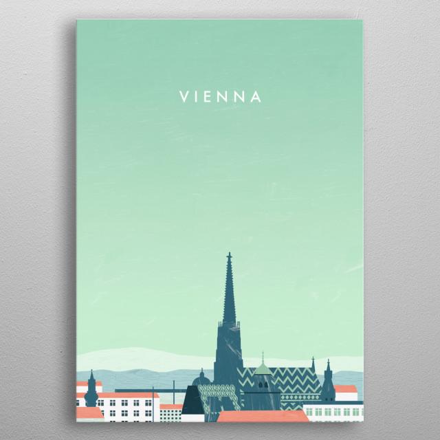 Illustration of Vienna metal poster