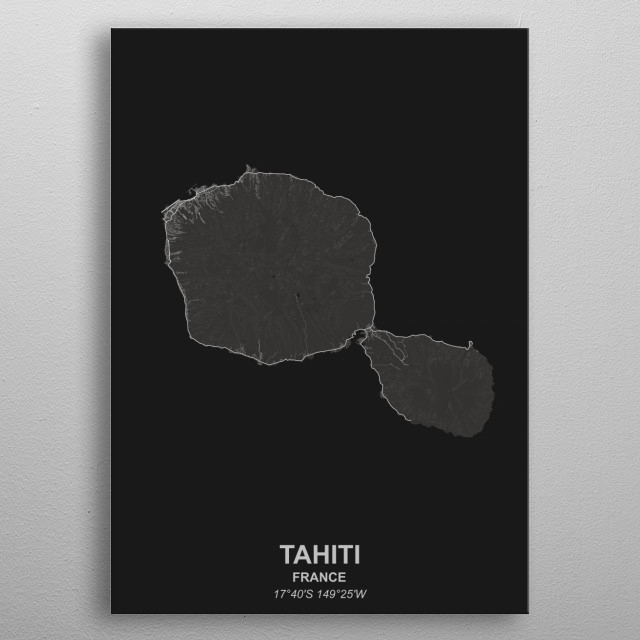 TAHITI  FRANCE metal poster