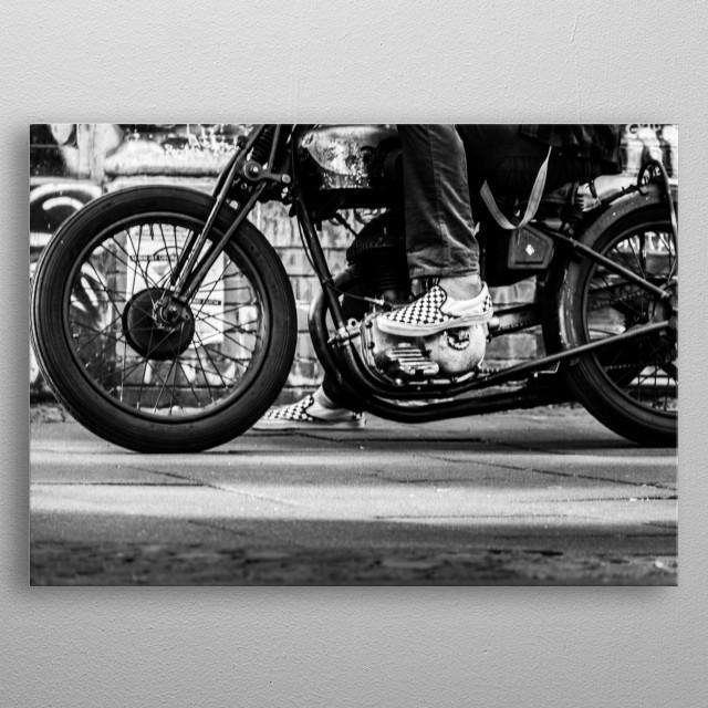 Fancy Motorcycle metal poster