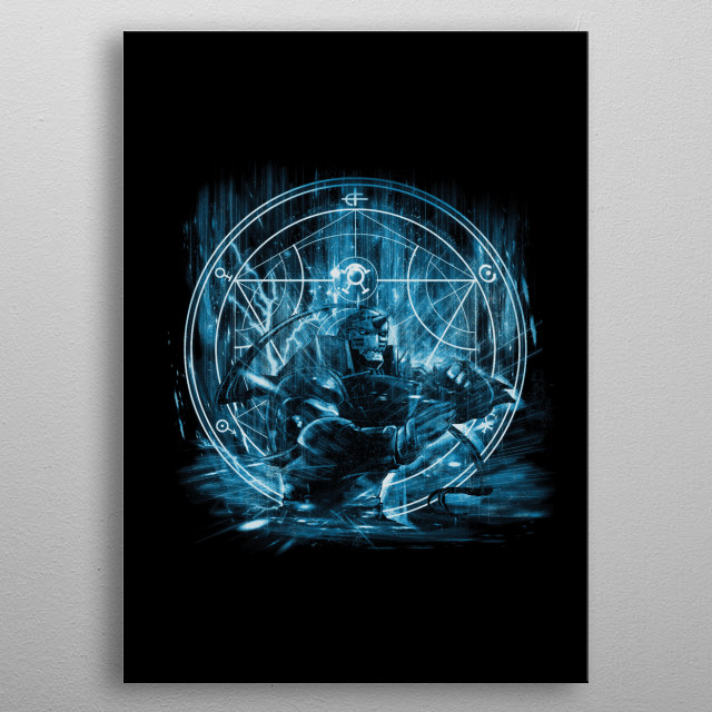 This marvelous metal poster designed by kharmazero to add authenticity to your place. Display your passion to the whole world. metal poster
