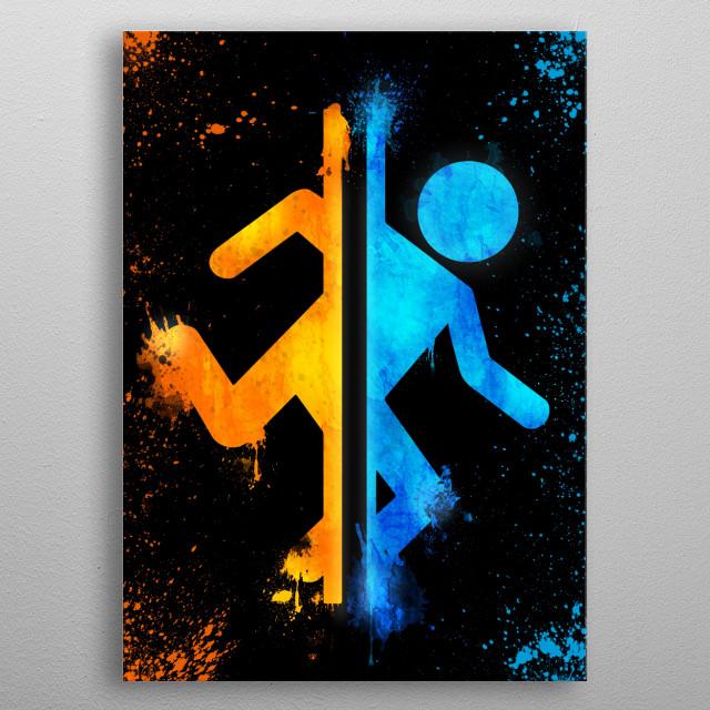 Portal • 2D Version metal poster