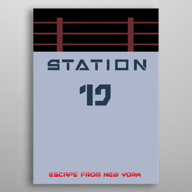 A minimalist representation of the only way out from Escape from New York  metal poster
