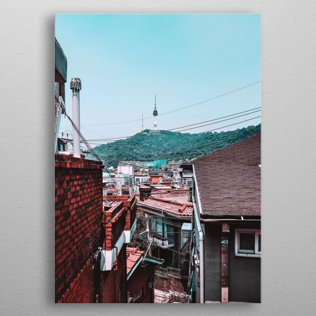 Namsan Tower in Seoul, South  Korea metal poster