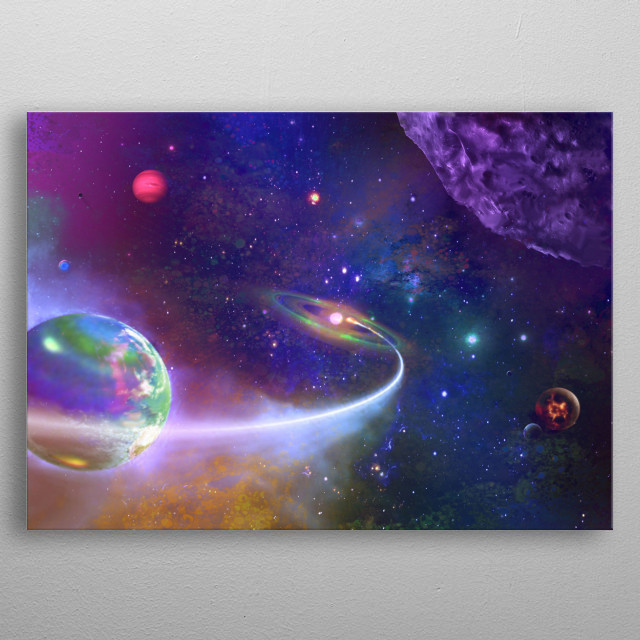 High-quality metal print from amazing Outer Space Art collection will bring unique style to your space and will show off your personality. metal poster