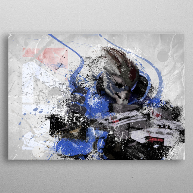 Garrus Mass Effect metal poster