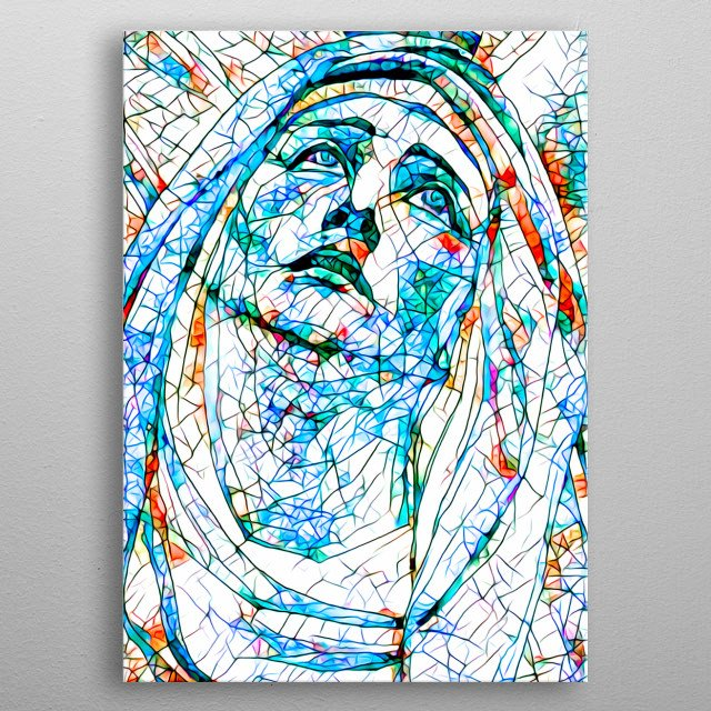 Stained Glass  number 8 - Madonna  For contact and inquiries, please go to  Open for suggestions and requests. metal poster