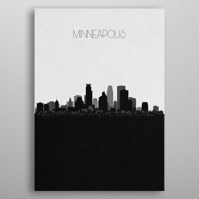 Destination: Minneapolis metal poster