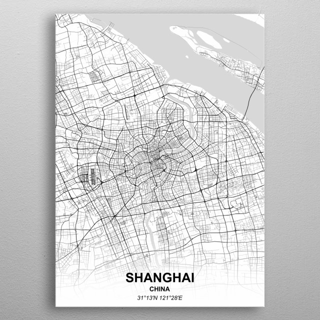 SHANGHAI - CHINA metal poster