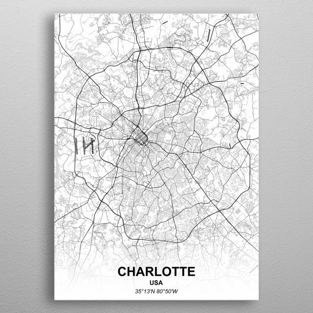 CHARLOTTE - USA metal poster