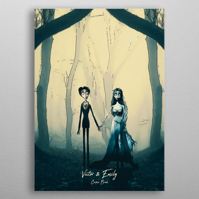 Emily & Victor - Corpse Bride metal poster