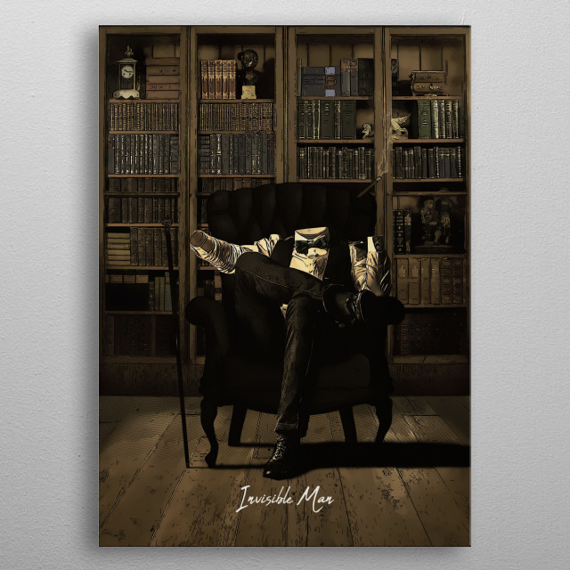 Invisible Man metal poster