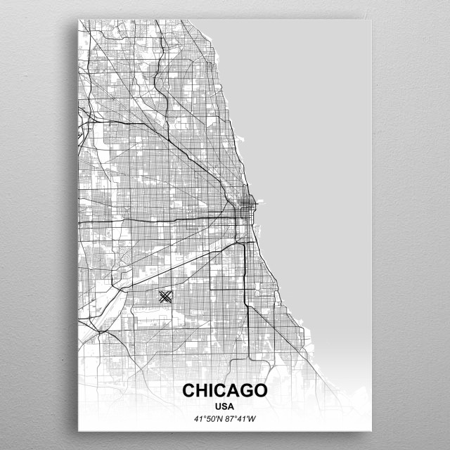 CHICAGO - USA metal poster