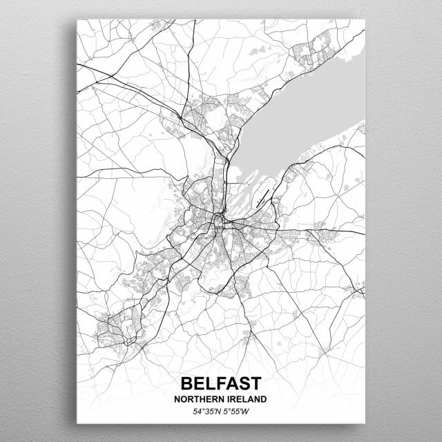 BELFAST - NORTHERN IRELAND metal poster