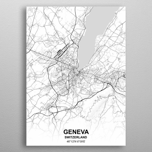GENEVA - SWITZERLAND metal poster