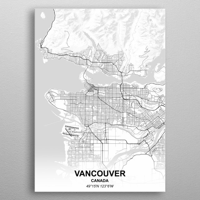 VANCOUVER - CANADA metal poster
