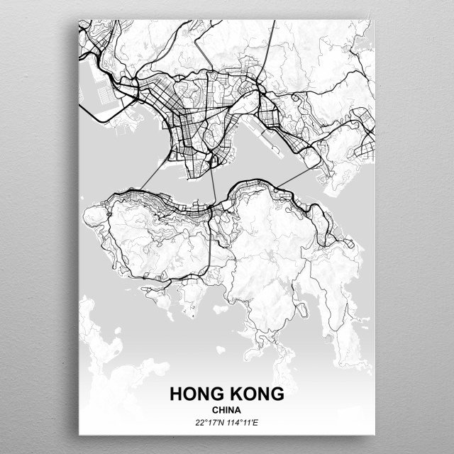 HONG KONG - CHINA metal poster