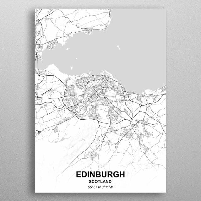 EDINBURGH - SCOTLAND metal poster