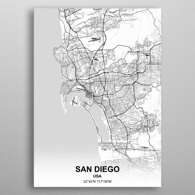 SAN DIEGO - USA metal poster