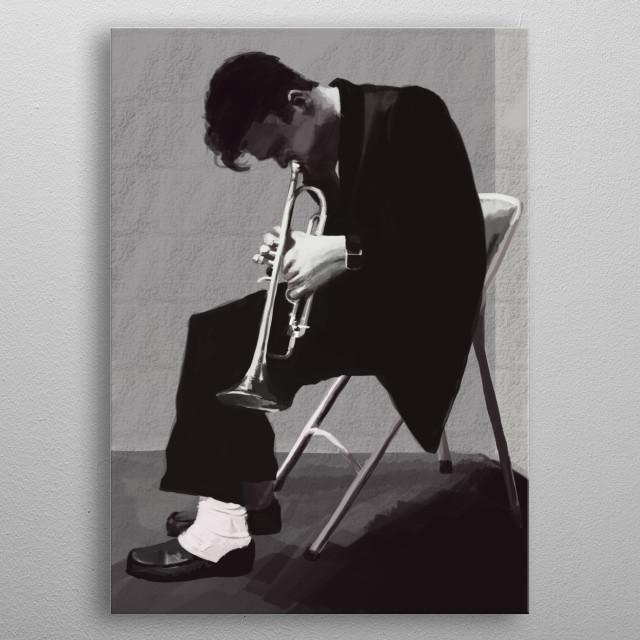 Chet Baker metal poster