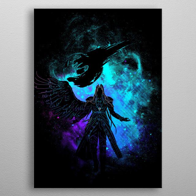 One Winged Angel Art metal poster