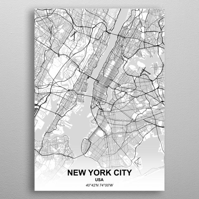 NEW YORK CITY - USA metal poster