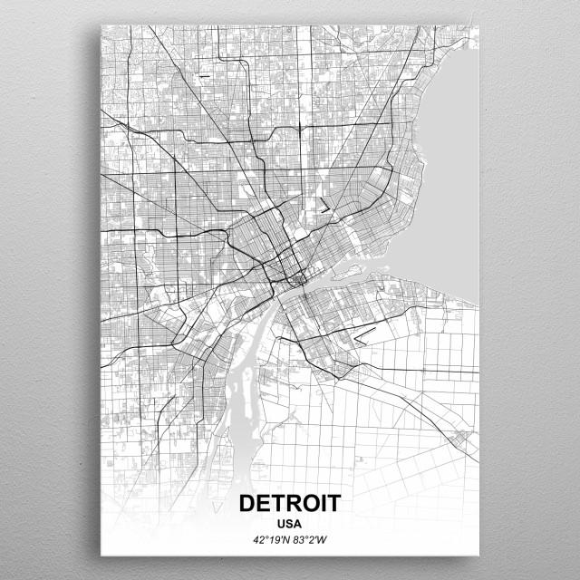 DETROIT - USA metal poster