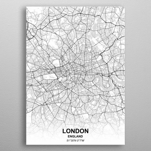 LONDON - ENGLAND metal poster