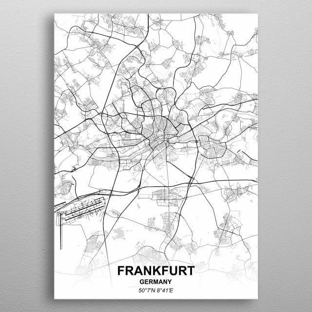 FRANKFURT - GERMANY metal poster